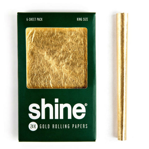 Shine 24K Gold - King Size Blunt Papers - 6 Sheet Pack