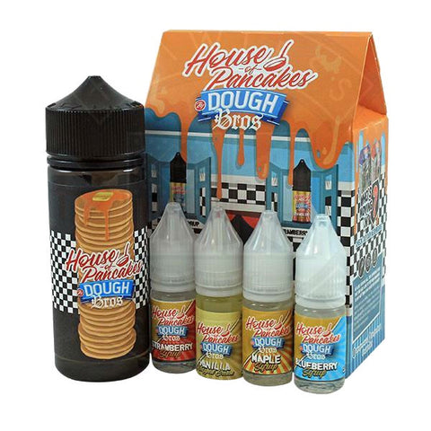 Dough Bros - House Of Pancakes E-Liquid 100ml Shortfill 0mg
