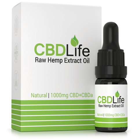 CBD Life - 10% RAW Hemp Oil Extract 10ml - 1000mg CBD+CBDA