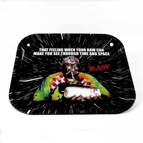 Raw - Metal Rolling Tray Large - OOPS Design - The JuicyJoint