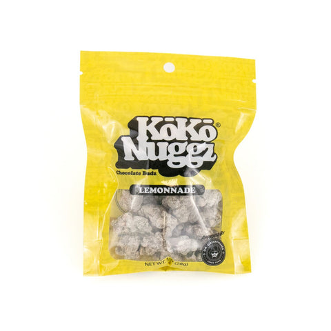 KoKo Nuggz - Lemonade Flavour Chocolate Budz 1oz Snack Baggie