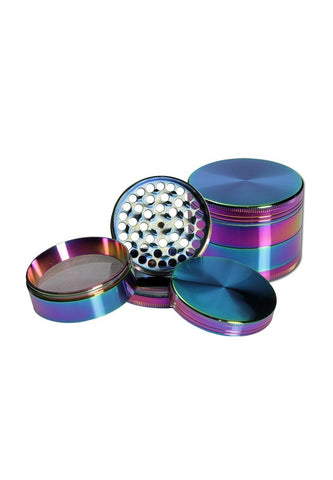 Coolkrew - Petrol coloured metal grinder 4 part