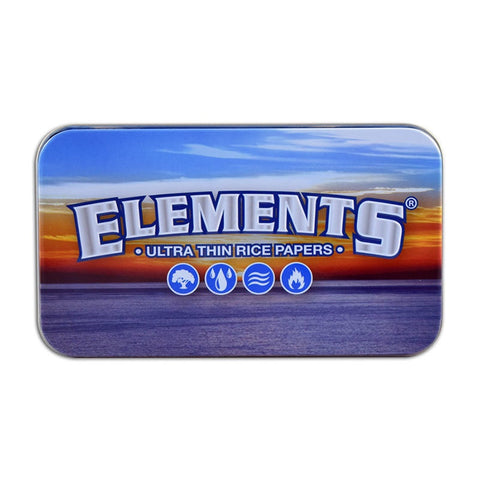 Elements Metal Tobacco Tin Box