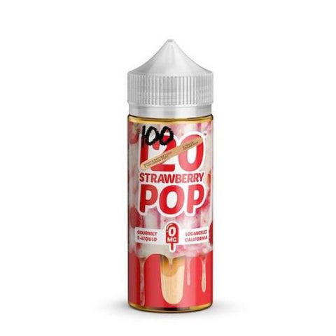 100 Strawberry Pop E-Liquid - 100ml Shortfill
