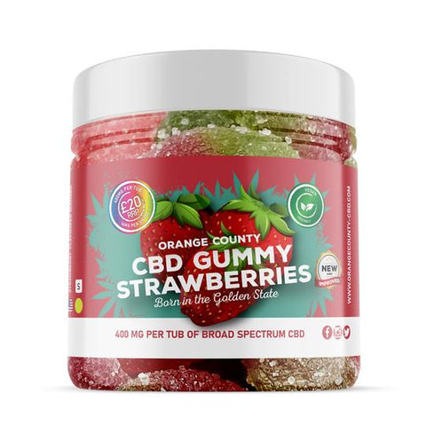 Orange County CBD Gummies - Gummy Strawberries