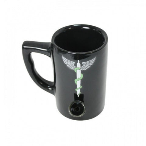 Bong Coffee Mug - Black Medical Joint - The JuicyJoint