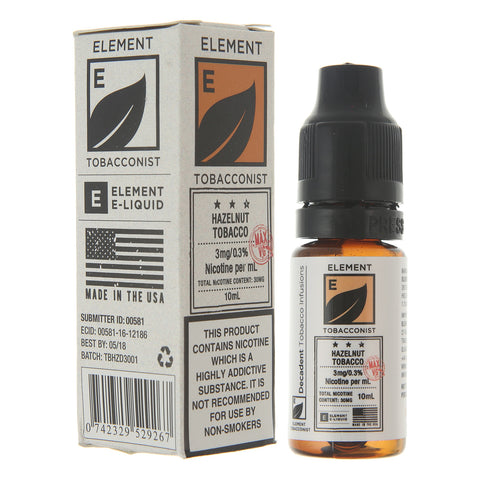 Element Tobacconist 10ml E-liquid By Element E-Liquids - The JuicyJoint