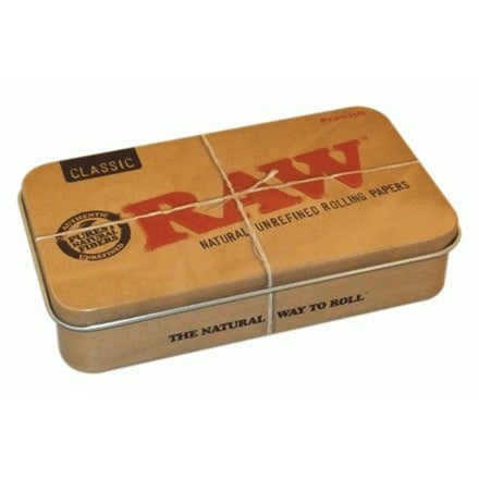 Raw  Metal Tobacco Tin Box - The JuicyJoint
