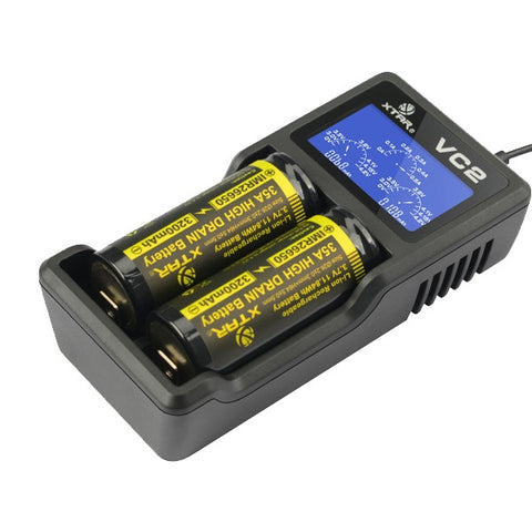 XTAR VC2 - 2 x Battery Charger 0.5A / USB