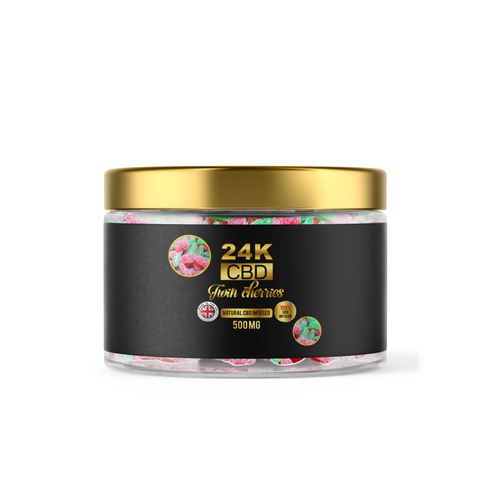 24K CBD - Twin Cherries 500mg CBD