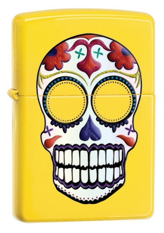 Zippo Day Of Dead Skull Yellow