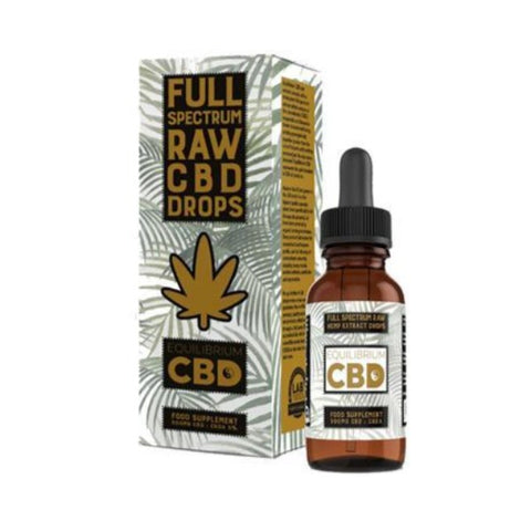Equilibrium 10ml CBD Drops - Full Spectrum Raw 500mg (5%)