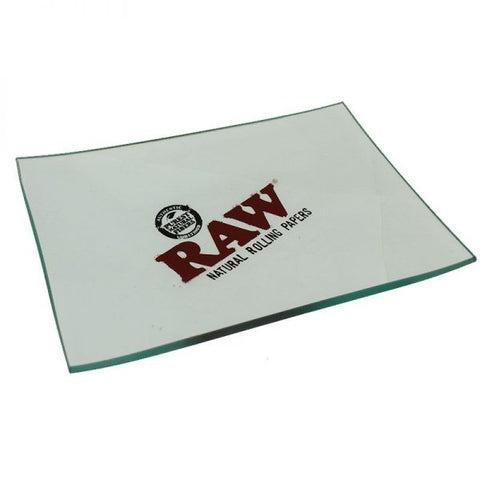 "SALE!! Raw Glass Rolling Tray 6"" x 4"""
