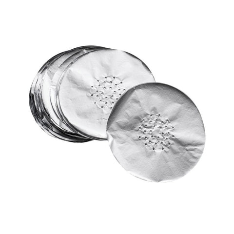 Round Pre-Cut Aluminium Foil For Shisha Bowl, 50 pieces