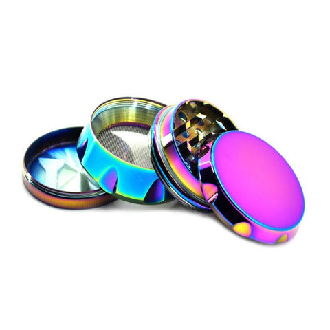 40mm Metal 4 Part Grinder - iridescent
