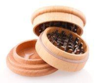 Wooden 3 Part Grinder 60mm with Metal Grinding Diamond Teeth