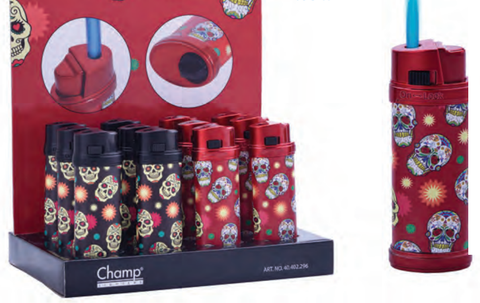 Champ Skull BlueFlame Turbo Jet Lighter - The JuicyJoint