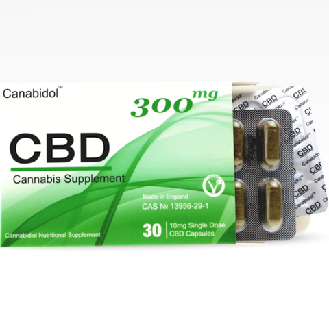 Canabidol™ - CBD Oil Oral Capsules (30x10mg) Vegan