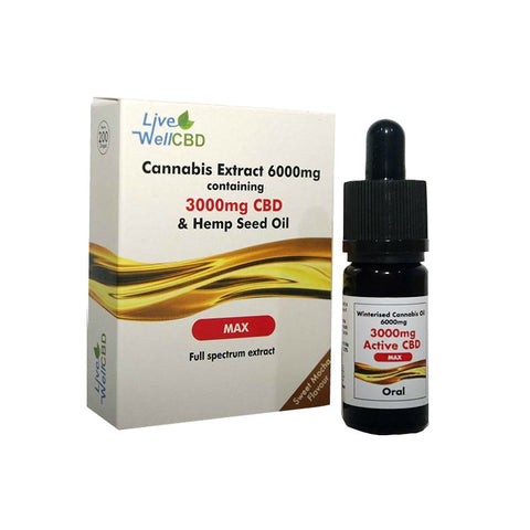 LiveWell Max CBD - Oral CBD Oil - 10ml Bottle