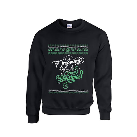 SALE!! Christmas Jumper - Dreaming of a Green Christmas