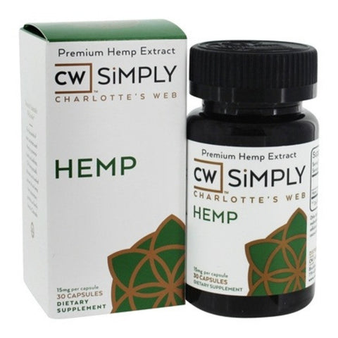Charlottes Web CW Simply Hemp Oil - Capsules - The JuicyJoint