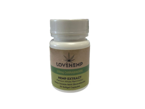Love Hemp CBD Soft Gel Capsules 330mg - The JuicyJoint