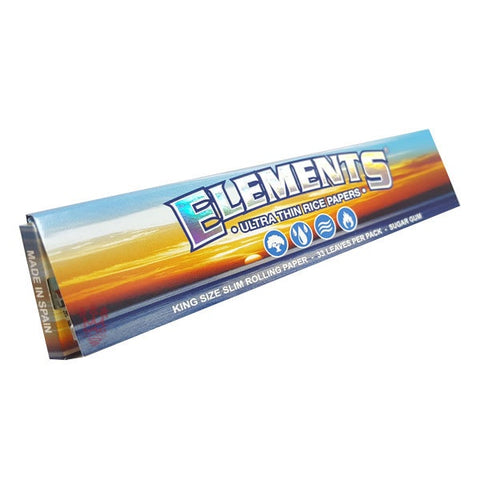 Elements - Connoisseur King Size Rice Papers with Tips - The JuicyJoint