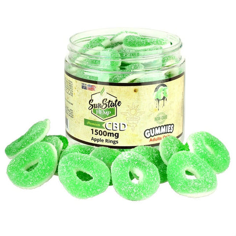 Sun State Hemp - CBD Gummy Rings 1500mg