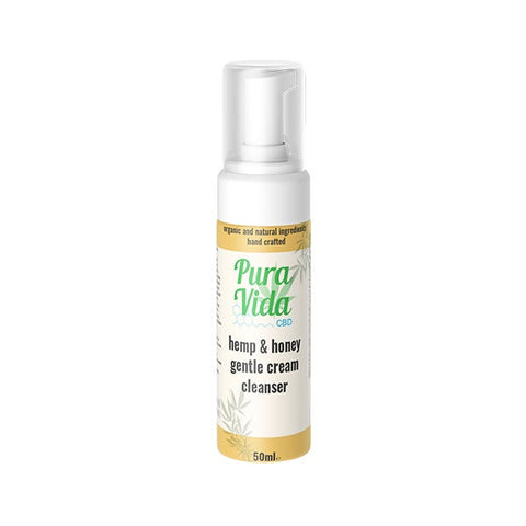 Pura Vida  CBD Hemp & Honey Gentle Cream Cleanser