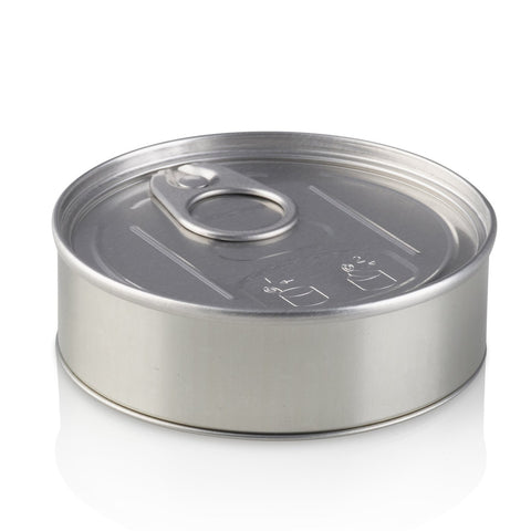 60 x Tuna Tin Push Down Seal / Black Lid