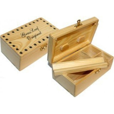Grassleaf - Wooden Rolling Box With Magnetic Lid - The JuicyJoint