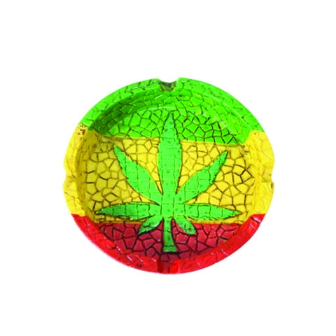 Rasta Leaf Ashtray - The JuicyJoint