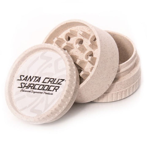 Santa Cruz Shredder - Coloured 3pc Hemp Plastic Grinder