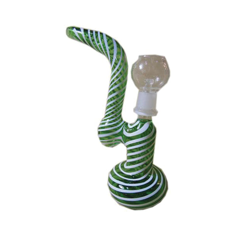 Glass Dabbing 18cm Oil Bubbler - Candy Cane Design OLB9 - The JuicyJoint