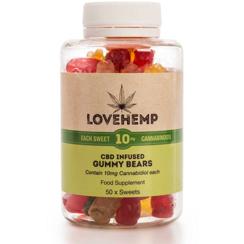 Love Hemp - CBD Gummy Bears 10mg Per Bear