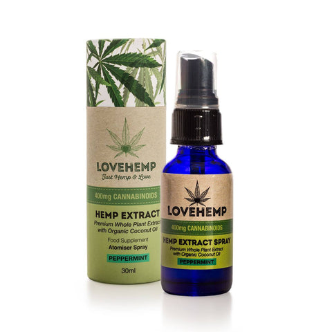 Love Hemp™ 400mg CBD Oil Spray – 30ml PRICE REDUCED!!