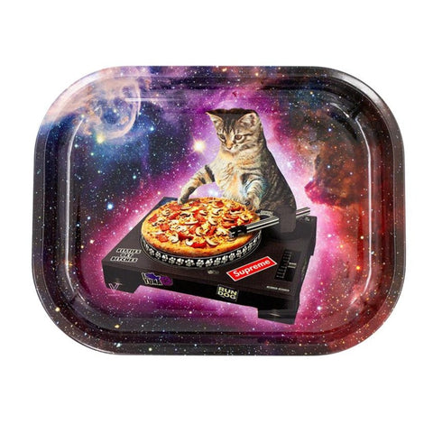 Pussy Cat DJ - Mini Metal Rolling Tray by V Syndicate