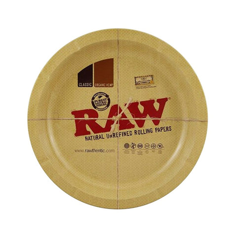 SALE!! Raw Classic Round Metal Rolling Tray 31cm