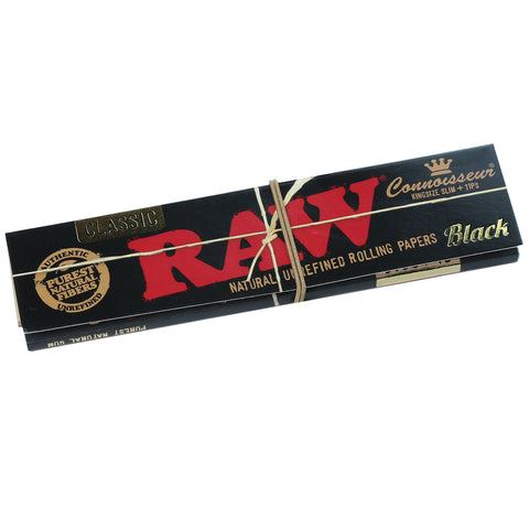 Raw - Black Connoisseurs Kingsize Papers + Tips