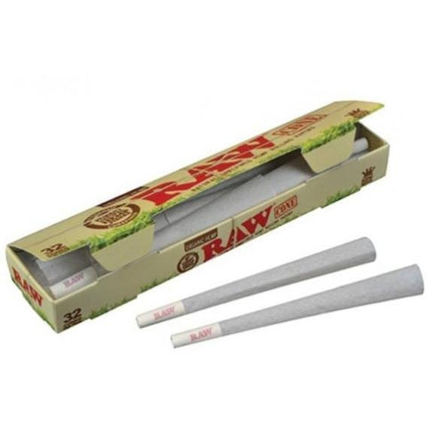 Raw - Pre Rolled Organic Hemp  - King Size Cones - 32 pack