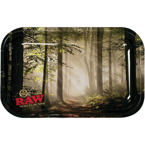 RAW - Smokey Forest Metal Rolling Tray