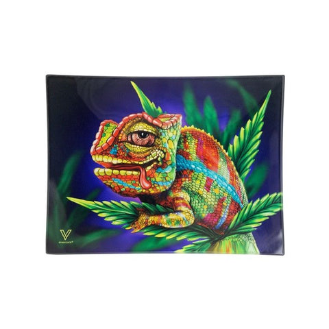 V Syndicate - Stoned Chameleon Glass Rolling Tray