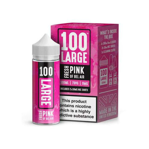 100 Large - Premium E-Liquid 100ml Short fill + 2 x Free Nic Shots