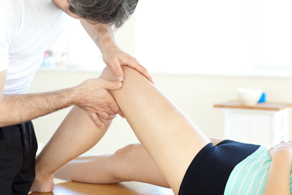 Lady with knee pain