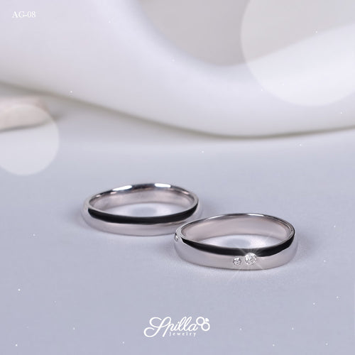 Platinum Wedding Ring AG-08