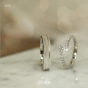 Couple Ring AV-13 Silver