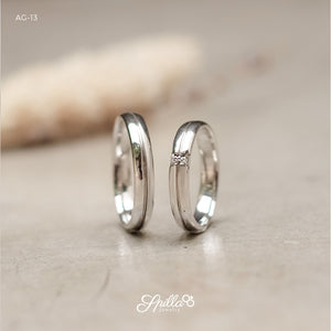 Platinum Wedding Ring AG-13