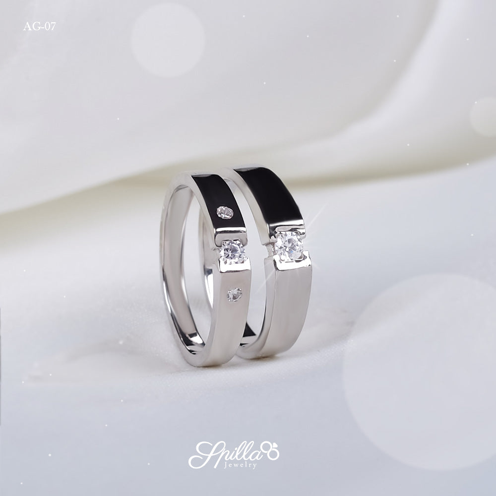 Couple Ring AG-07 [Silver]