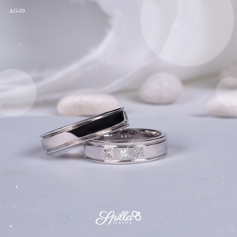 Couple Ring AG-09 [Silver]