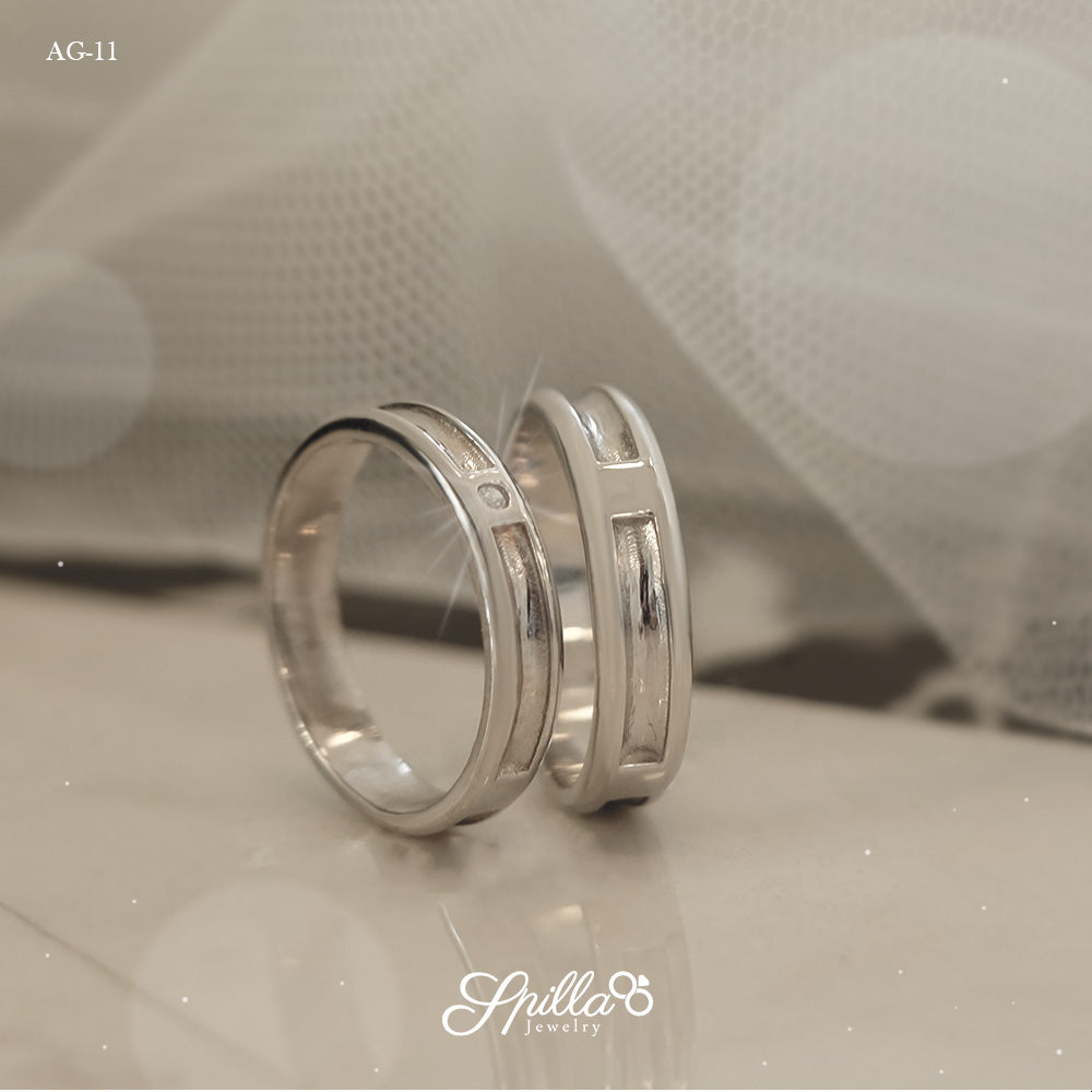 Couple Ring AG-11 [Silver]